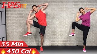 Download 35 Min Standing Abs & Low Impact Cardio Workout for Beginners - Home Ab & Beginner Workout Routine Video
