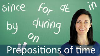 Download Prepositions in Time Expressions - English Grammar & Speaking Lesson Video