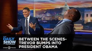 Download Trevor Bumps into President Obama - Between the Scenes: The Daily Show Video