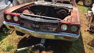 Download Cranberry Red 1970 Chevelle SS454 M22 LS5 Saved From A Yard In Alabama Video