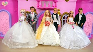 Download Rapunzel Elsa Barbie Wedding Shop Wedding Dress Shopping Barbie Toko pernikahan Vestido de casamento Video