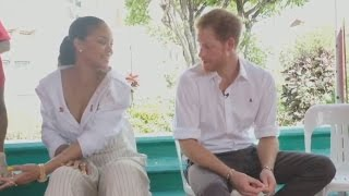 Download Prince Harry and Rihanna take HIV test together Video