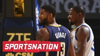 Download Kevin Durant Tells Paul George Thunder 'Will Blow You Away' | SportsNation | ESPN Video