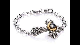 Download Nativity Stone Cross Stainless Steel Pendant Bracelet Video