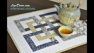 Download Patchwork tutorial Interlaced Stripes - LizaDecor NEONE Ruler Video