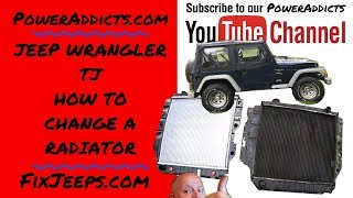 Download 2000 Jeep Wranger TJ - Time to replace the radiator. Video