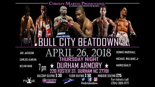 Download Bull City Beatdown 4/26/18 Boxing Live from Durham, NC Video