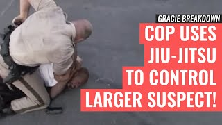 Download Las Vegas POLICE Officer Uses JIU-JITSU to Control Larger Suspect (Gracie Breakdown) Video