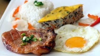 Download Broken Rice with Grilled Pork Chop and Meatloaf - Com Tam Suon Cha Trung Video