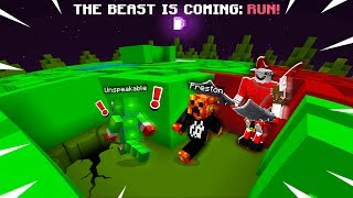 Download MINECRAFT RUN FROM THE BEAST MAZE ESCAPE with Unspeakable! (MCPE Maze Run) Video