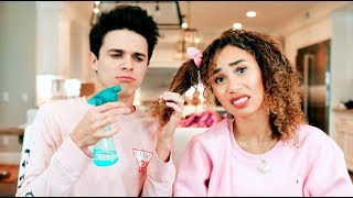 Download ″BOYFRIEND″ STYLES MY NATURAL CURLY HAIR (FAIL) | MyLifeAsEva Video
