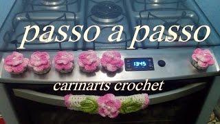 Download capinha para botão do fogão em crochê by Carina Dias Video