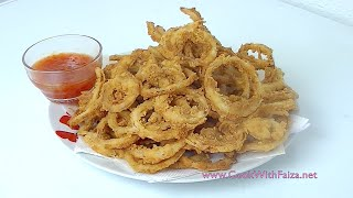 Download FRIED ONION RINGS *COOK WITH FAIZA* Video