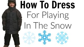 Download How To Dress For Playing In The Snow | Cold Weather Dressing Tips Video