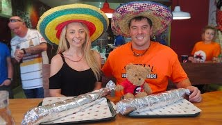 Download Belly Buster Burrito Challenge w/ KATE OVENS!! Video
