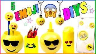 Download 5 DIY Emoji Projects You NEED To Try! Room Decor, Phone Case, Keychains, Pencils - EASY DIYs Video
