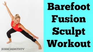 Download Full Workout Exercise Video for a Total Body Workout At Home | 20-Minute Barefoot Fusion Sculpt Video