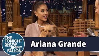 Download Ariana Grande Shows Off Her Winking Dog Toulouse and Sassy Nonna Video