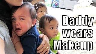 Download Babies Reaction to Daddy Wearing Makeup and a Wig- ItsJudysLife Vlogs Video