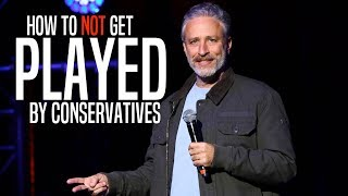 Download Jon Stewart Perfectly Describes the Right's Fake Outrage Game Video