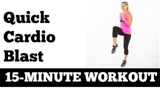 Download 15-Minute Quick At Home Fat Burning Cardio Blast - No Equipment Needed Video