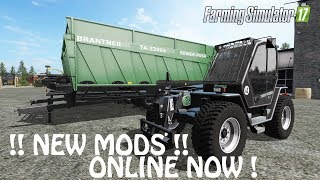 Download NEW MODS ONLINE NOW in Farming Simulator 2017   NEW COOL TIPPER & LOADER   PS4   Xbox One Video