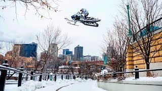 Download Urban Snowmobiling in Saint Paul | Levi LaVallee Video