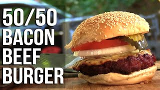 Download Beef and Bacon 50/50 Burgers recipe Video