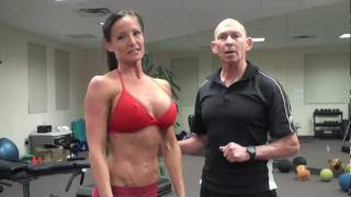 Download Bikini model chest workout Video