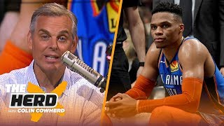 Download Colin Cowherd feels for Russ as game 'moves away' from him, talks Lakers HC rumors   NBA   THE HERD Video
