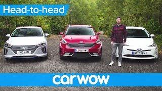 Download Toyota Prius vs Hyundai Ioniq vs Kia Niro 2018 review – what's the best hybrid?   Head2Head Video