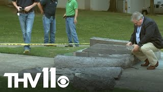 Download Man destroys newly erected Ten Commandments monument at Arkansas State Capitol Video