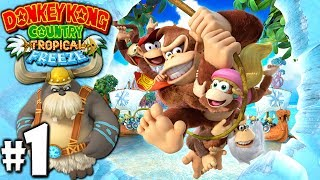 Download Donkey Kong Country Tropical Freeze: Co-Op Diddy Joins PART 1 (Wii U HD Gameplay Walkthrough Coop) Video