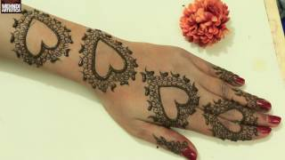 Download Cute Romantic Valentines Day Special Henna Mehndi Designs|Easy Trendy Mehendi For Hands|Artistica Video