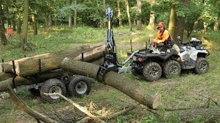 Download Can Am 6x6 and timber trailer in 4K quality Video