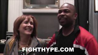 Download ROY JONES JR. MAKES KATHY DUVA BLUSH WITH A KISS AFTER SWITCHING INTO MACK MODE MID-INTERVIEW Video