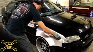 Download Handmade Aluminum Widebody BMW E46 | Inside Cutworm Specialties Video