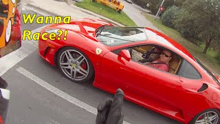 Download FERRARI PLAYS WITH MOTORCYCLE Video