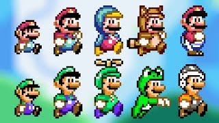 Download ALL POWER-UPS! SMW Styled Custom Sprites - Super Mario Bros. X (SMBX 1.4.4) Video