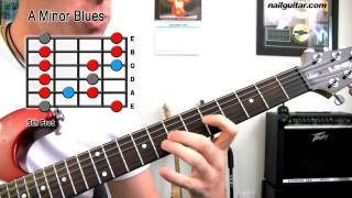 Download A Minor Blues Scale - Guitar Lesson (Must Learn For Rock & Blues Soloing) Video