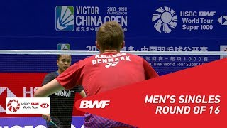 Download R16 | MS | Viktor AXELSEN (DEN) [1] vs Anthony Sinisuka GINTING (INA) | BWF2018 Video