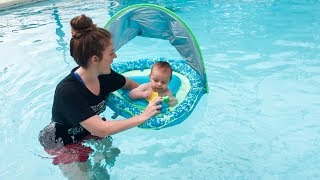 Download Baby's First Swim In The Pool! Video