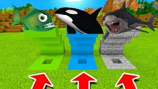 Download Minecraft PE : DO NOT CHOOSE THE WRONG HOLE! (Piranha, Orca & Megalodon) Video