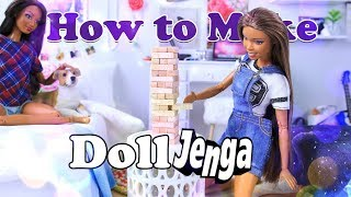 Download DIY - How to Make: Doll Jenga | Family Game Night Doll Craft EASY Video