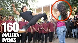Download Tiger Shroff's Amazing Stunt With Shraddha Kapoor For Baaghi Promotions Video