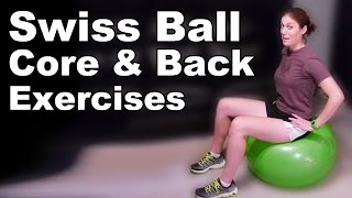 Download Swiss Ball Core & Back Strengthening Exercises (Basic) - Ask Doctor Jo Video