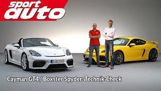 Download Preuninger erklärt Porsche Cayman GT4 / Boxster Spyder | sport auto Video
