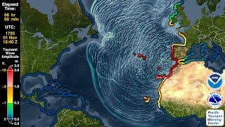 Download Tsunami Forecast Model Animation: Lisbon 1755 Video