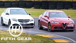 Download Fifth Gear: Mercedes AMG C63 Vs Alfa Romeo Quadrifoglio Drift Test Video