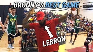 Download LeBron James CELEBRATES As Bronny Goes Off For 21! LeBron Jr Can REALLY PLAY 🔥 Video